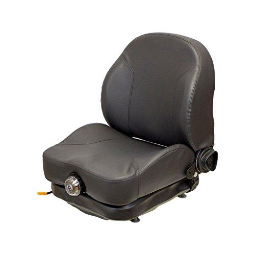 58,8cm hoch schwarz Vinyl-Sitz und mechanische Aufhängung mit verstellbarer Rückenlehne, Slide Rails