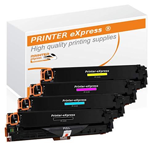 Printer-Express XXL Toner 4er Set ersetzt HP CF210X, CF210A, CF211A, CF212A, CF213A, 131X, 131A Toner für HP LaserJet Pro 200 Color M251 M251N M251NW M276 M276N M276NW Drucker (Hp Toner Laserjet M251nw)