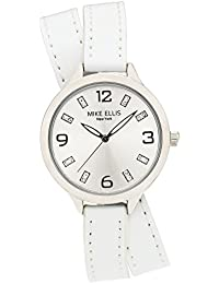 Mike Ellis New York Damen-Armbanduhr Streamline Analog Quarz Leder SL3142E7