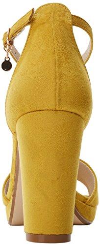 XTI Damen 30686 Riemchenpumps Gelb (Panama)