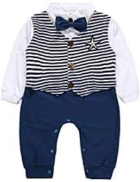 Baywell Unisex Baby Strampler Jungen Wenig Gentleman Kleidung Set Neugeborenen Säugling Spielanzug Jumpsuit Overall Nachtwäsche