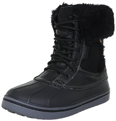 crocs AllCast Luxe Duck Boot Women, Damen Warm gefütterte Schneestiefel, Schwarz (Black), 36-37 EU (4 Damen UK)