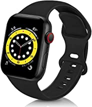 Compatible with Apple Watch Band 45mm 44mm 42mm 41mm 40mm 38mm for Women Men Soft Silicone Sport Replacement W