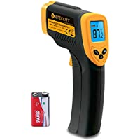 Etekcity Lasergrip 774 Non-contact Digital Laser IR Infrared Thermometer, -50°C - 380°C ( -58°F~716°F ), Instant Read Temperature Gun, Rubber Paint Technology, Yellow/Black