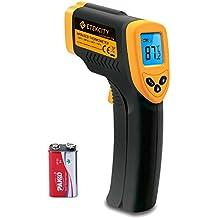 Etekcity 774 Termómetro Infrarrojo Digital Láser IR Sin Contacto, Pistola de Temperatura -50 ℃ a 380 ℃, Amarrillo/Negro