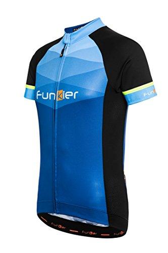 Funkier Herren-Fahrradtrikot Rideline Active kurzen Ärmeln XXL schwarz/blau (Mountain Bike Bib Shorts)