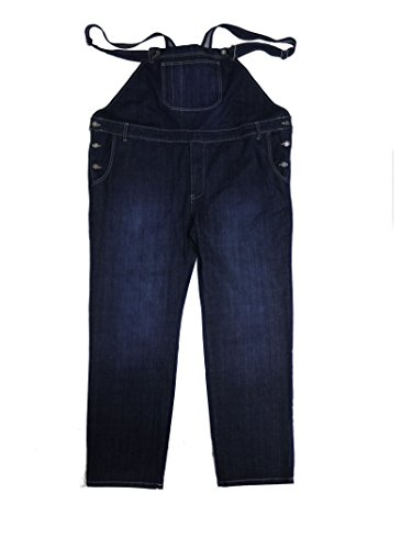 Abraxas Jeans-Latzhose in dunkelblau- Stonewash Übergrößen bis 12XL, Größe:5XL