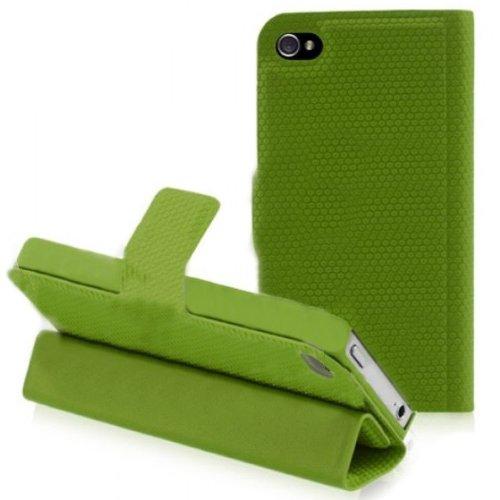 Folio Smart Cover case custodia magnetica Verde per Apple iPhone 4 4s con funzione di sostegno Slim e magnetico Guoer