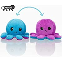 Reversible Octopus Mini Plush - Stuffed Animal Toy | Show Your Mood Without Saying a Word (Blue & Purple)