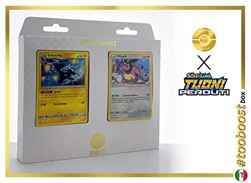Zebstrika 82/214 Y Miltank 158/214 - #tooboost X Sol E & Luna 8 Tuoni Perduti Box de 10 Cartas Pokémon Italiano + 1 Goodie Pokémon