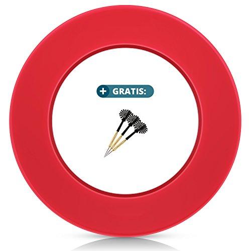 Anello di protezione per bersagli di tutte le marche - raccogli freccette - anello rosso - bordo stabile di alta qualità - protezione da parete per freccette senza montaggio aggiuntivo - professionale