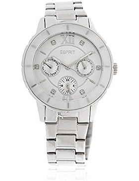 Esprit Damen Armbanduhr Romance Glints Ceramic White Silber ES900732001