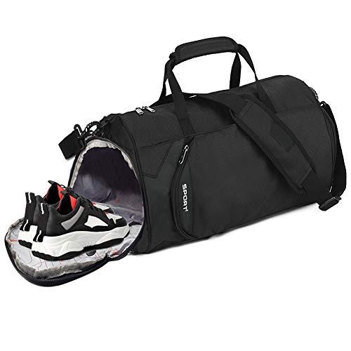Seelast Sporttasche, 30 Liters 2 in 1 Sporttasche Reisetasche mit Schuhfach Wasserdicht Tasche Gym Sporttasche Reise Rucksack Handgepäck Weekender für Männer und Frauen
