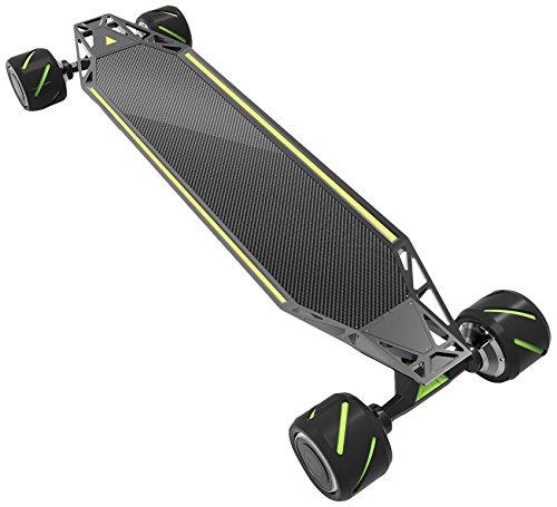 Acton Skateboard électrique–Noir, mixte, BLINKQU4TRO, noir