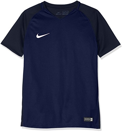 Nike Kinder Trophy Iii Jersey Youth Shortsleeve Trikot , Blau (midnight navy/dark obsidian/dark obsidian/white) , M -