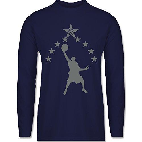 Shirtracer Basketball - Basketball - Herren Langarmshirt Navy Blau