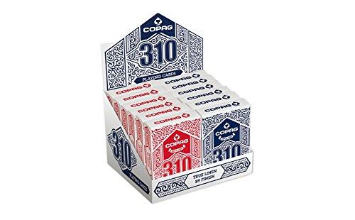 ASS Altenburger 22541003 Copag 310 - 12 Decks, rot/blau (Brick) -