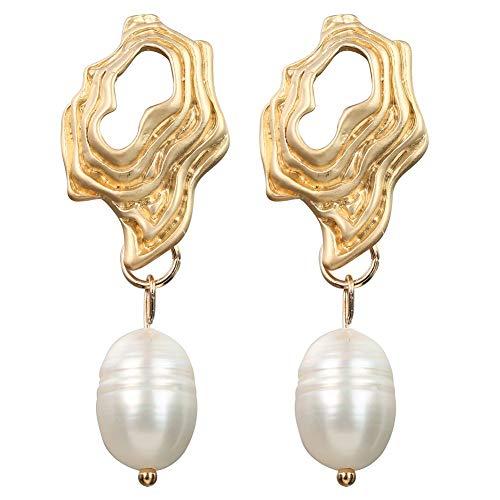 IMBM STYLE Nette Natürliche Frischwasserperlen Perlen Tropfen Ohrringe für Mädchen Ohr Frau Lange Baumeln Ohrringe Partei Schmuck,017