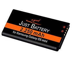 JuBaTec original Akku für Samsung Galaxy S5 Mini SM-g800F mit 2250 mAh ersetzt EBBG800BB