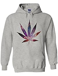 Weed Leave Galaxy Space High Novelty White Femme Homme Men Women Unisex Sweat à Capuche Hooded Sweatshirt Hoodie