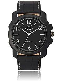 Xurious Enterprise Round Dial Analogue Black Dial Black Leather Strape Fashion Wrist Watch For Men & Boys | XE_VL... - B07FLYVXPW