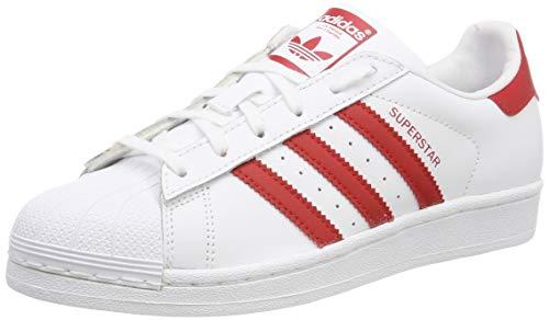 Adidas Superstar J Zapatillas de Gimnasia Unisex Niños, Blanco (Ftwr White/Scarlet/Scarlet Ftwr...