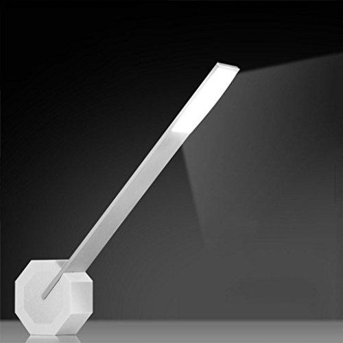 Kitzen Créatif LED USB rechargeable Protège les yeux en lisant la lampe d'étude Mettez en surbrillance dimmable Lampe de chevet chambre, étude Haut 38.4cm, product color: white silver Haute qualité