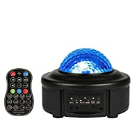 Innoo Tech Star Projector Night Light, Ocean Wave Projector 11 Colors LED Remote Control Projector Lamp Built-in Bluetooth Music Player for Kids Adults Bedroom Living Room Decoration