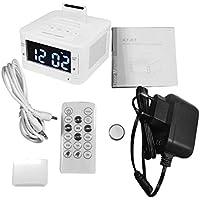 K7 Altavoz Bluetooth Reloj LCD Digital Estéreo HiFi Reproductor de música Soporte Manos Libres Llamadas SOOEP