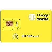 SIM Card IoT (Internet of Things) - GSM/2G/3G/4G - ideal für domotische Anwendungen, Smartwatch, Smartwatch, Smart Health, smart Mobility, Wearable, etc mit 10 Kreditkarte.