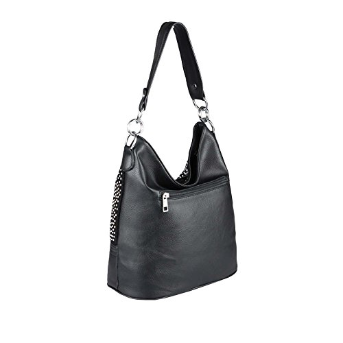 OBC Only-Beautiful-Couture Borsa Messenger - NERO 27x24x6 cm, ca 27x24x6 cm ( BxHxT ) NERO 34x29x18 cm
