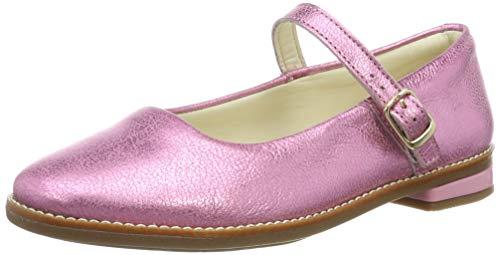 Clarks Drew Sky K, Ballerine con Cinturino alla Caviglia Bambina, Rosa (Pink Sparkle Lea Pink Sparkle Lea), 33.5 EU