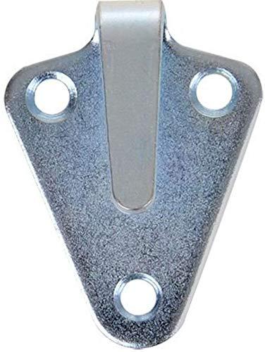 iapyx® 10 Stück Dreiloch Planenhaken 50x40mm hochwertig gestanzt verzinkt im Polybeutel