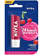 NIVEA Lip Balm, Fruity Cherry Shine, 4.8g