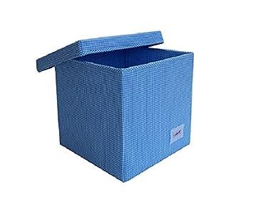 Minene Storage Cube   Blue Gingham Star Storage Baskets, Square Storage  Box, Large Fabric