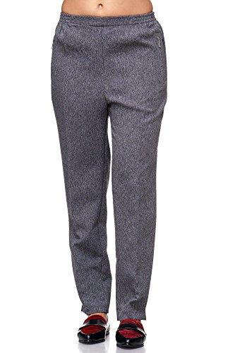 JillyMode Hochwertige Damen Schlupfhose mit Gummizug - Die unkomplizierte und Bequeme Hose für Dem Alltag- Auch Sehr Geeignet für pflegebedürftige Omas Einfach anzuziehen