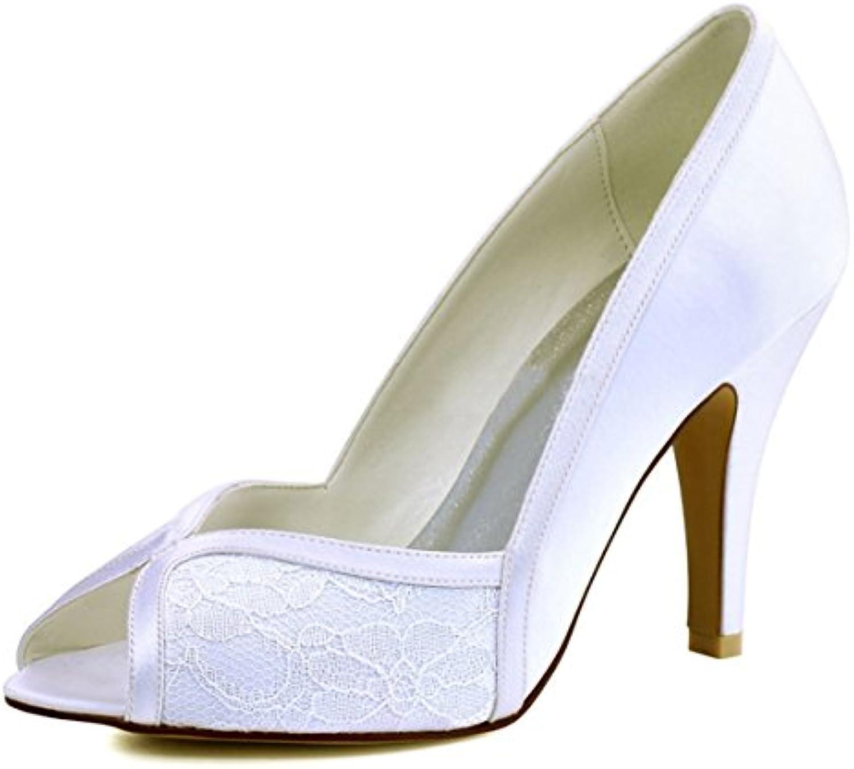 minitoo mesdames les escarpins deux ton ton ton mariage en satin ivoire dentelles soirée sandales uk 8 b07bbrdlt2 mariée parent | Vogue  1b223d