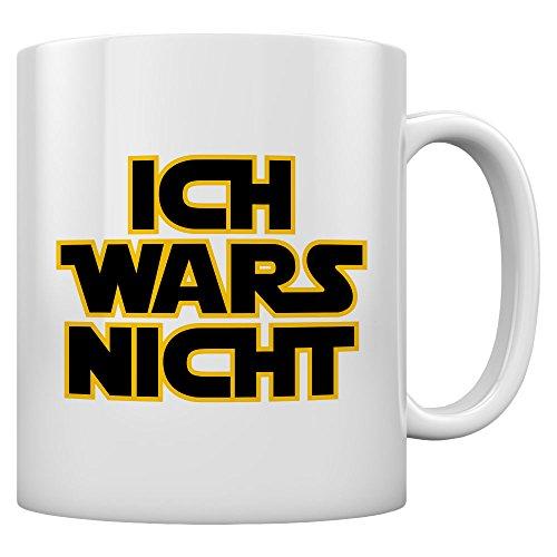Shirtgeil - Ich Wars Nicht - Geschenk für Fans Kaffeetasse Tee Tasse Becher 11 Oz. Weiß