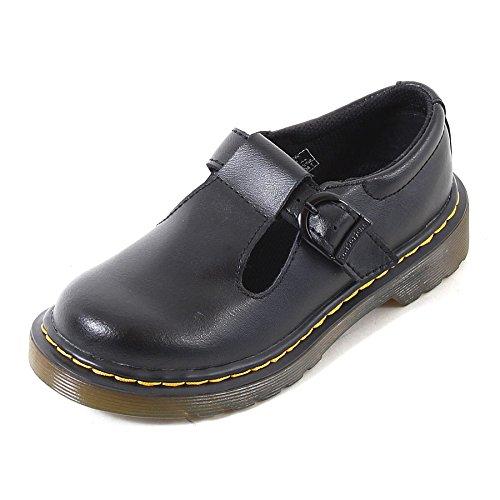 Dr. Martens Junior Polley T Lamper Leather Buckle Shoe Black-Black-10 Size 10