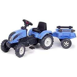 Falk - 2050C - Vélo et Véhicule pour Enfant - Tracteur - Landini Powermondial 110 + Remorque