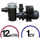 Pompe filtration piscine - 1CV Mono 12m³/H - Poolstyle
