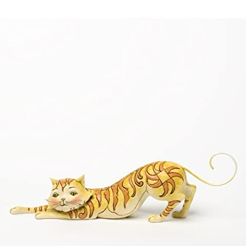 Heartwood Creek Tabitha Stretching Tabby Cat Figurine