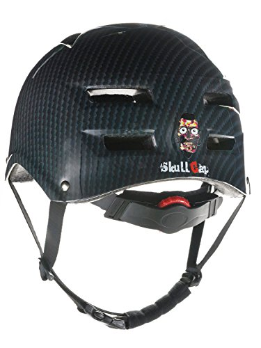 Skullcap® BMX Helm ☢ Skaterhelm ☢ Fahrradhelm ☢, Herren | Damen, schwarz matt & glänzend (Carbon, L (56 - 58 cm))