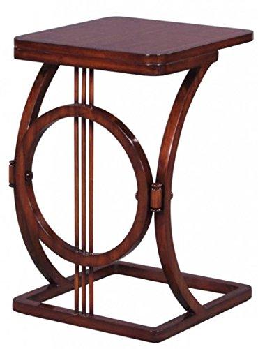 Schlafzimmer Mahagoni-beistelltisch (Casa Padrino Art Deco Mahagoni Snack Tisch/Beistelltisch Braun 40 x 40 x H. 62 cm - Luxus Möbel)
