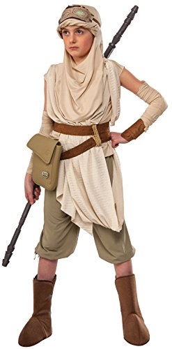 Rubies Star Wars The Force Awakens Girls Premium Rey Costume S