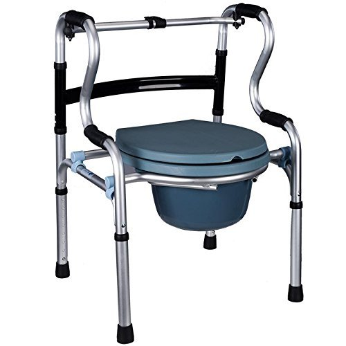 WCWC Healthcare Folding 5 Verstellbare Höhe Kommode Stuhl und Old Man Moving Toilette Walking Frame Bad Stuhl Dusche Stuhl