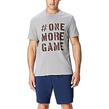 FIND Camiseta de Pijama con Mensaje para Hombre