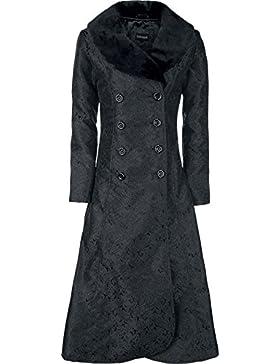 Gothicana by EMP Abrigo Brocado Sangre Oscura Abrigo Mujer Negro