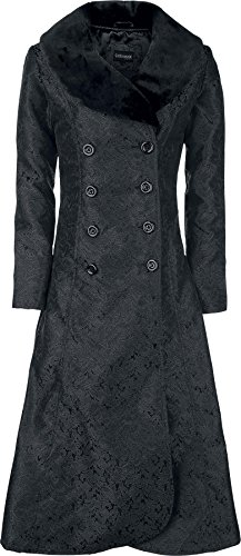 Gothicana by EMP Dark Blood Brocade Coat Cappotto donna nero XS