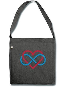Polyamorie Symbol Schultertasche aus Recycling-Material von Spreadshirt®
